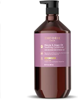 Theorie: Sage - Marula & Argan Oil - Soothing Conditioner - Rejuvenate & Moisturize - For Over Processed & Distressed Hair - Sulfate Free - Safe for Color & Keratin Treated Hair, 800mL