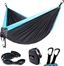 AnorTrek Camping Hammock, Lightweight Portable Single & Double Hammock with Tree Straps [10 FT/18+1 Loops], Parachute Hammock for Camping, Hiking, Garden