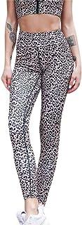 Women High Waist Leopard Print Legging Yoga Pants Splice Running Tight Jogging Legging