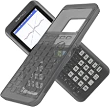 Tading Silicone Case for Ti 84 Plus CE Calculator, Protective Cover for Texas Instruments Ti-84 Graphing Calculator - Shockproof Anti-Drop and Anti-Scratch Silicon Skin Accessories (Transparent Black)