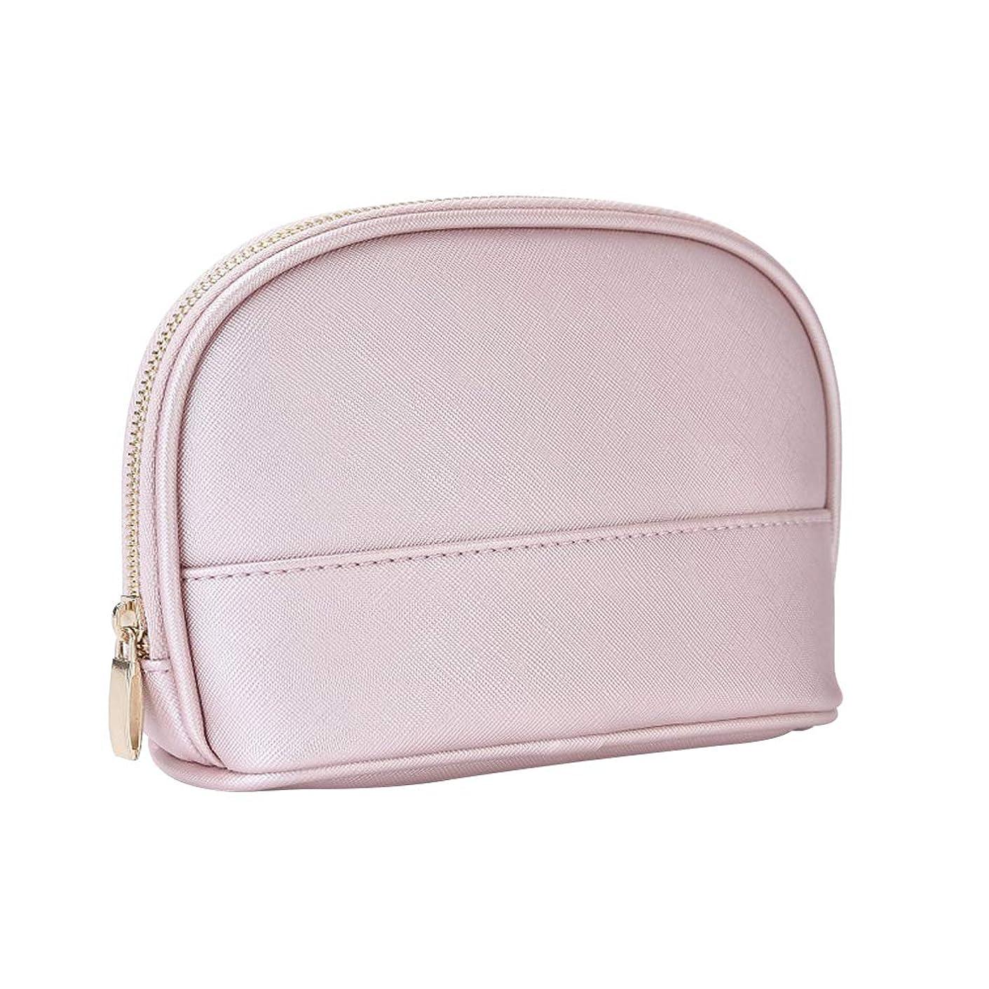 初期成長アドバイスXiazw ピンク PUレザー 防水 化粧ポーチ メイクポーチ バッグ 化粧品収納 小物入れ 出張 旅行用