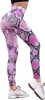 OYSOHE Damen Hohe Taille Leggings Training Yoga Hosen Schlange Printed Skinny Frauen Leggings