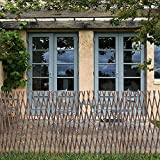 ZXZCHGN Jardín expandible Trellis Support Support Frame Willow Lattice Wooden Fence Panel, Planta de Valla en celosía Escalada en Trellis Cerca Decorativa para Plantas de Escalada Soporte