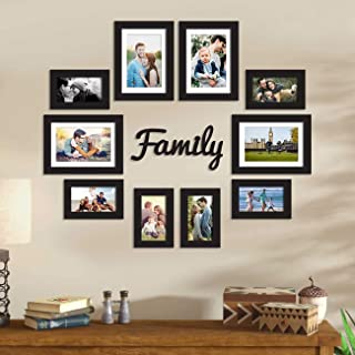 Art Street Set of 10 Black Wall Photo Frame, Picture Frame for Home Decor with Family MDF Plaque, Free Hanging Accessories...
