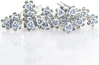 Miaoo - 20 horquillas para el pelo con cristales de imitación y perlas, accesorio perfecto para el uso diario.