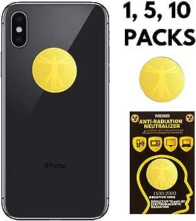 EMF Protection for CELLPHONES/Laptop - Anti EMF/EMR Radiation Sticker - Radiation Shield Blocker - Remove Electronic Technologies 24K Gold (10 Pack)