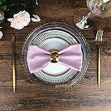 INFEI weich Leinen Baumwolle Abendessen Cloth Servietten, 12 Stück (40 x 40 cm), für Veranstaltungen und den Heimgebrauch (Pink) - 8