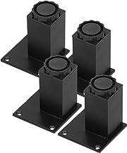 Bankpoot, 4-delige kastpoot verstelbare hoogte-ondersteuning voor meubels zoals kast, bank, enz(Square cabinet feet 80mm-b...
