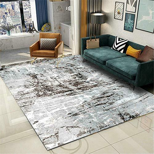 AU-SHTANG alfombras Grandes para Salon No Puedo Dejar Caer la casa Decorativa antidesliza Alfombra Antideslizante Alfombra Persa -Gris_120x160cm