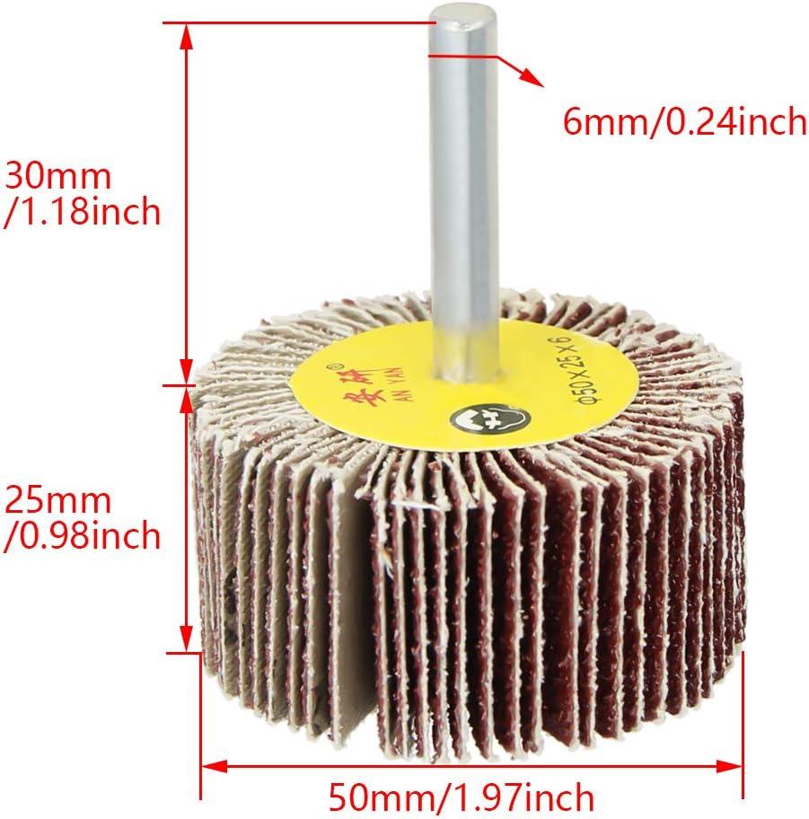 Utoolmart Lot de 5 disques abrasifs 15 mm Grain 80