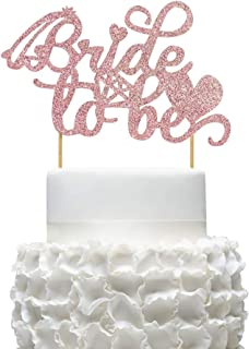 Mity rain Rose Gold Bride to Be Cake Topper/Bridal Shower Cake Picks for Wedding Bachelorette Party Engagement Hen Party Supplies