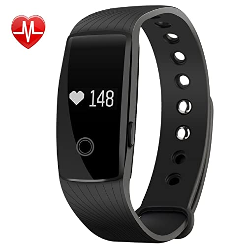 Mpow Montre Connectée Bracelet Connecté Intelligent, Fitness Tracker d'Activité de Sport, Podomètre Moniteur Compteur Sommeil Calories pour Android et iOS, Cadeaux pour Homme Femme Enfant