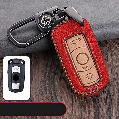 YKANZS Funda de Cuero para Proteger la Piel de la Llave del Coche, para BMW X1 X5 X6 Z4 Old 1Series 3Series 5Series 6 Series Llave remota del Coche