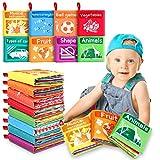 Libros Blandos para Bebé, 8 Piezas Libro de Tela Bebé Aprendizaje y Educativo Libro para Bebé Recién Nacido Niños
