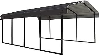 Arrow 12 x 20 x 7-Foot Heavy Duty Galvanized Steel Metal Multi-Use Shelter, Shade, Carport, 12' x 20' x 7'