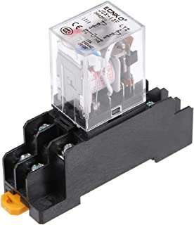 uxcell JQX-13F AC110V Coil DPDT 8Pins Red Light Electromagnetic Power Relay Scoket