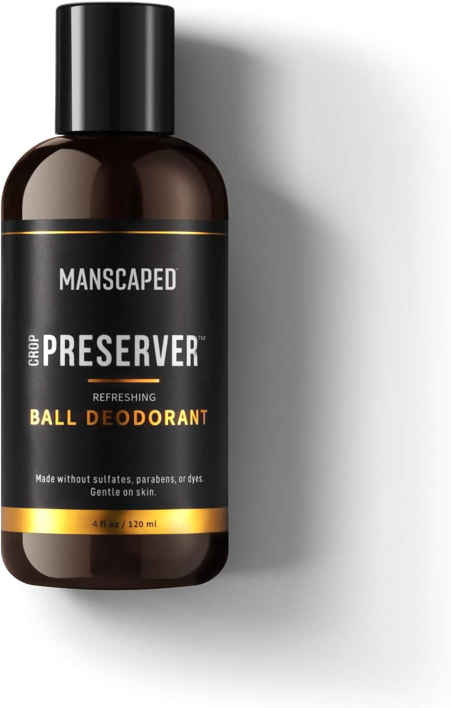 Desodorantes para hombre de MANSCAPED™ The Crop Preserver™, desodorantes en gel con aloe vera, desodorante íntimo para hombre, tónico genital masculino, aftershave para genitales, 120 ml