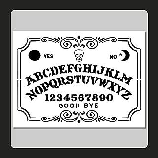 9 X 12 inch Decorative Ouija/Spirit Board Face Stencil Template Skull/Supernatural/Ghost/Halloween
