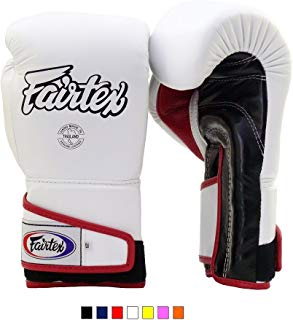 Fairtex Stylish Angular Sparring Gloves BGV6 Color: Black Red Yellow White Orange Marina Blue Size: 12 14 16 oz.