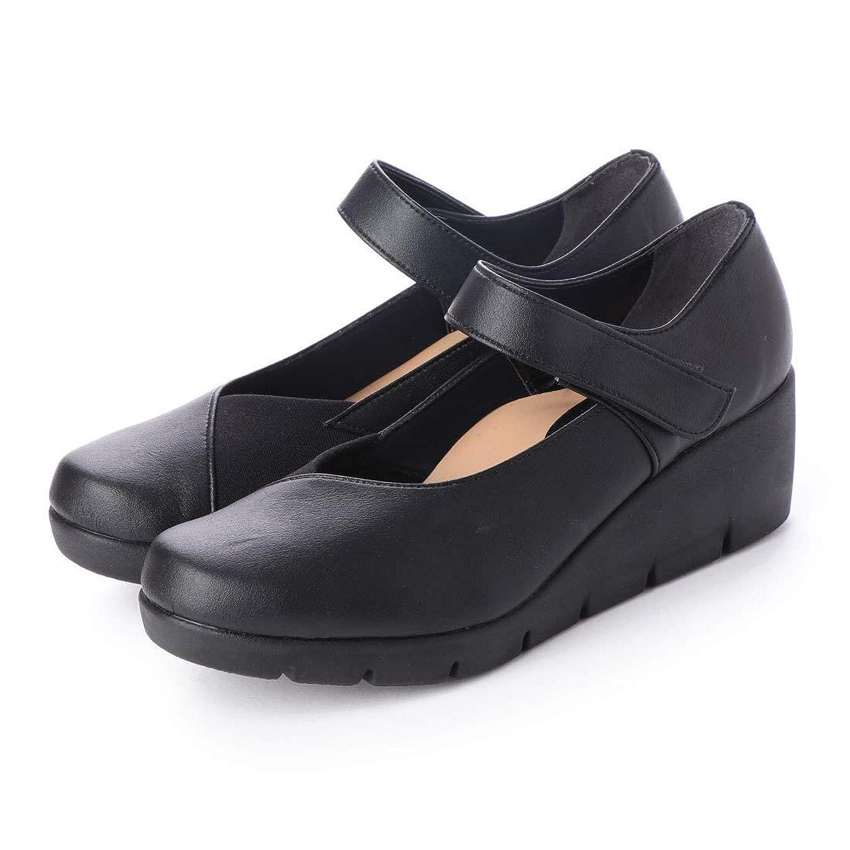 [ITALICO] 全6色 ファーストコンタクト パンプス 靴 日本製 楽ちん 痛くない ストラップ切替デザイン 母の日 ウェッジ コンフォートシューズ 走れる 美脚 厚底 オフィス 通勤