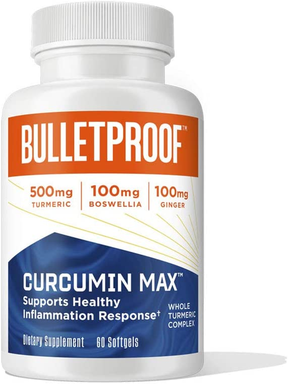 Curcumin Max Los Angeles Mall 48% OFF 60 Softgels Bulletproof for Keto Supplement Joint