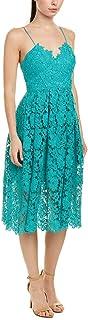 فستان دونا مورجان للنساء بتصميم الدانتيل الكيميائي متوسط الطول
