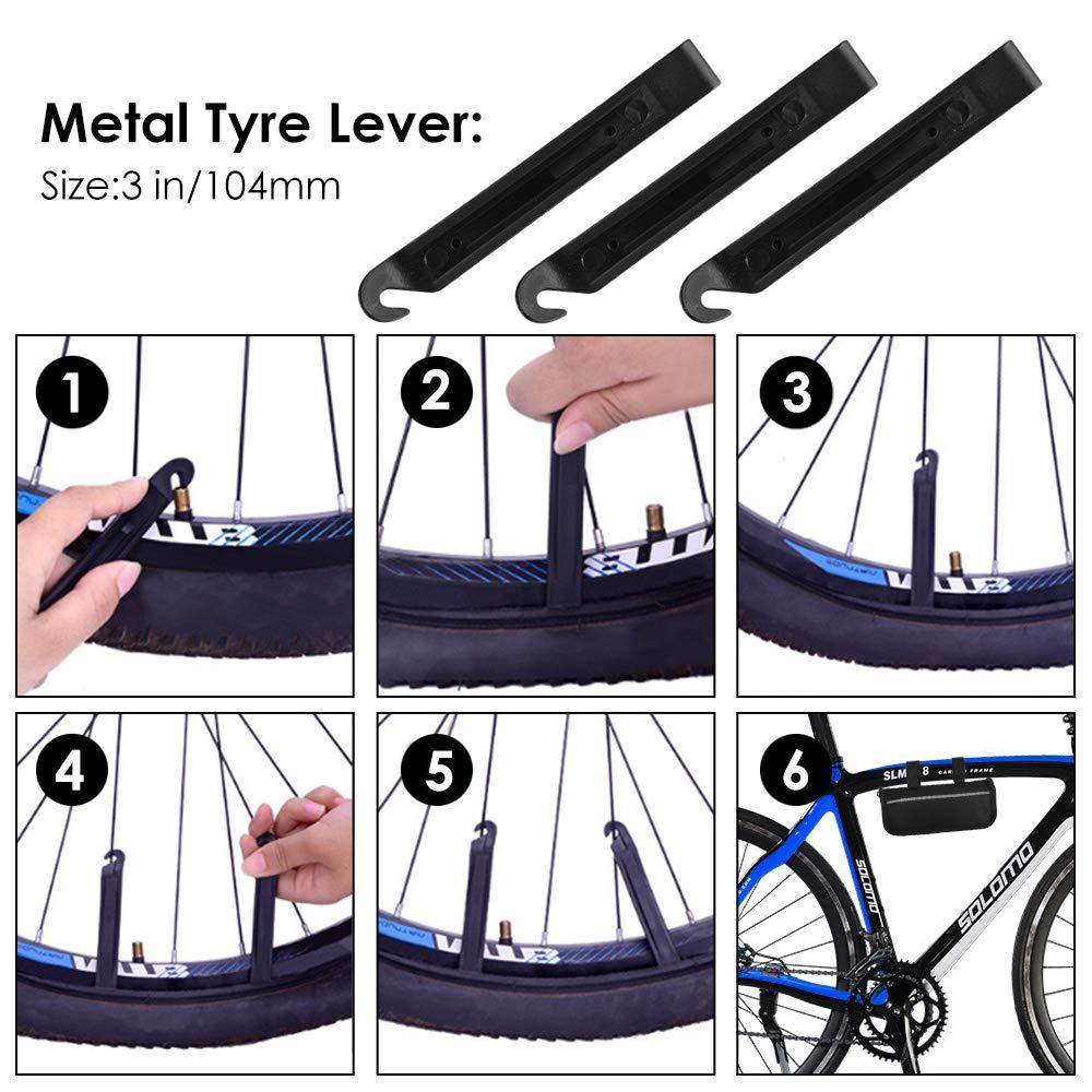 Oziral Kit de Reparación de Bicicletas 120 PSI Mini Bomba,16 in 1 ...
