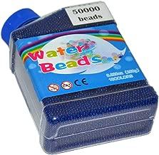 MINLIN 50000pcs/bag Home Decor Pearl Shaped Crystal Soil Water Beads Bio Gel Ball for Flower/Weeding Mud Grow Magic Jelly Balls (Blue)