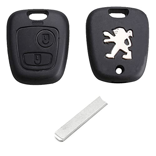 20b696f41b RKFUK® Replacement 2 Button Remote Car Key Fob Case with VA2 Blade and Logo  for