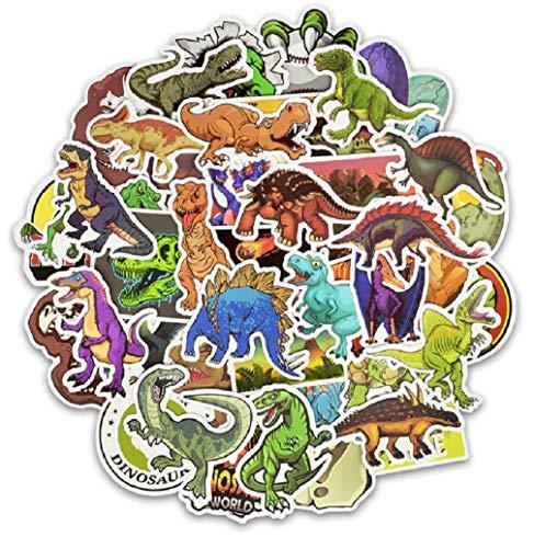 SetProducts  Top Pegatinas! Juego de 50 Pegatinas de Dinosaurios Vinilos - No Vulgares - Dinosaurio, Raptor, T-Rex, Triceratops - Personalización Portátil, Motocicleta, Bicicleta, Moto.