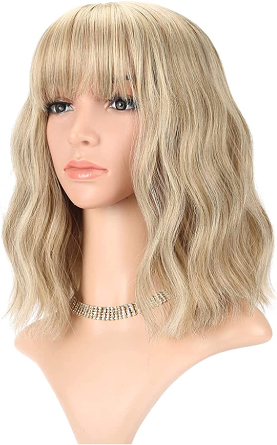 SuRose Charming Natural Wavy Wigs for Women Hair Bangs Wig Opening large release sale Direct stock discount