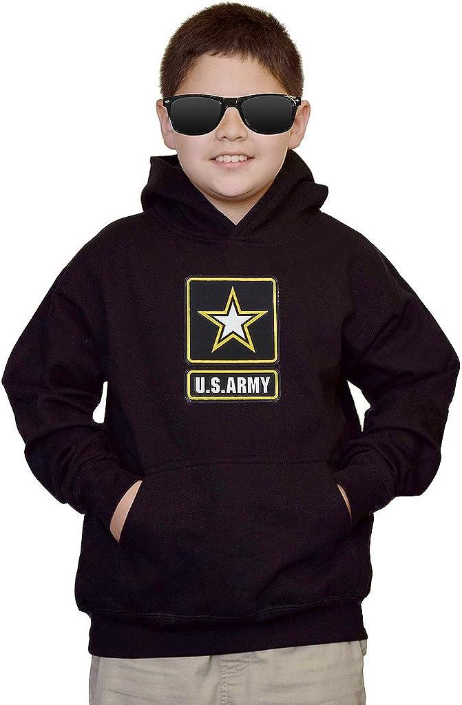 Interstate Apparel Youth US Army Logo Black Kids Sweatshirt Hoodie