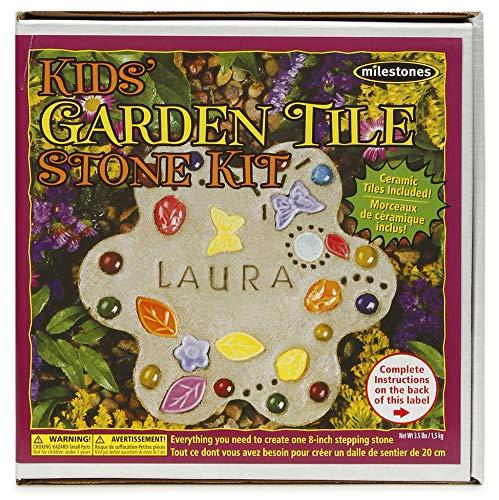 Milestones Kids Garden Tile Stepping Stone Kit, Multi-Color