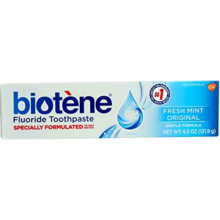 Biotene Gentle Formula Fluoride Toothpaste, Fresh Mint 4.3 oz ( Pack of 3)