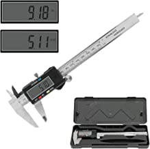 Winkeyes 0-6 Inch Digital Vernier Caliper with Inch/MM Conversion Large LCD Screen and Stainless Steel Body Vernier Caliper Tool for Small DIY and Homework, Coin Battery included, 150mm