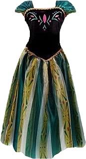 Que Sera Quesera Women's Anna Costume Frozen Princess Coronation Dress Halloween Costume