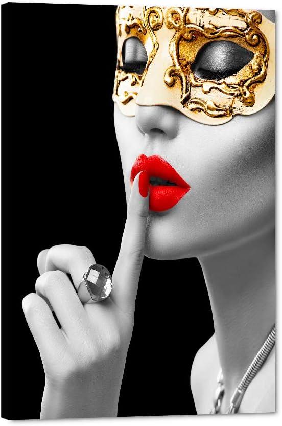 Modern Woman Canvas Ranking TOP20 Wall Large discharge sale Art Beauty Model Wearing Venetian