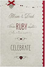 Mum and Dad Ruby (40th) Anniversary Card