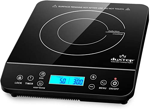 popular Duxtop Portable lowest Induction Cooktop, Countertop Burner Induction Hot Plate lowest with LCD Sensor Touch 1800 Watts, Black 9610LS BT-200DZ online sale