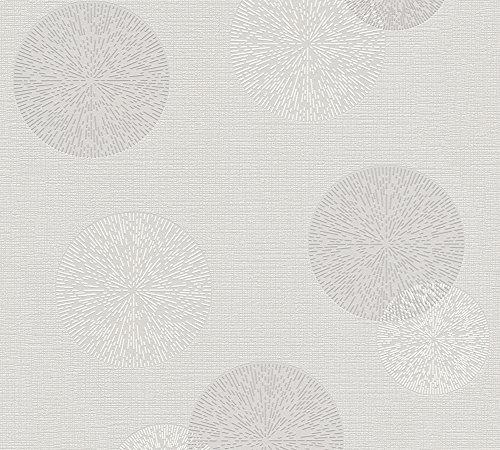 A.S. Création Vliestapete Happy Spring Tapete 10,05 m x 0,53 m grau weiß Made in Germany 347712 34771-2