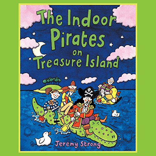 The Indoor Pirates on Treasure Island audiobook cover art