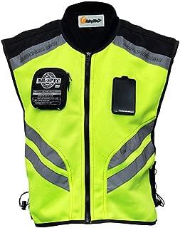 Riding Tribe JK22 Men's Motorcycle Racing Sleeveless Jacket Safety Reflective Vest (L-1/2 Chest:16.93