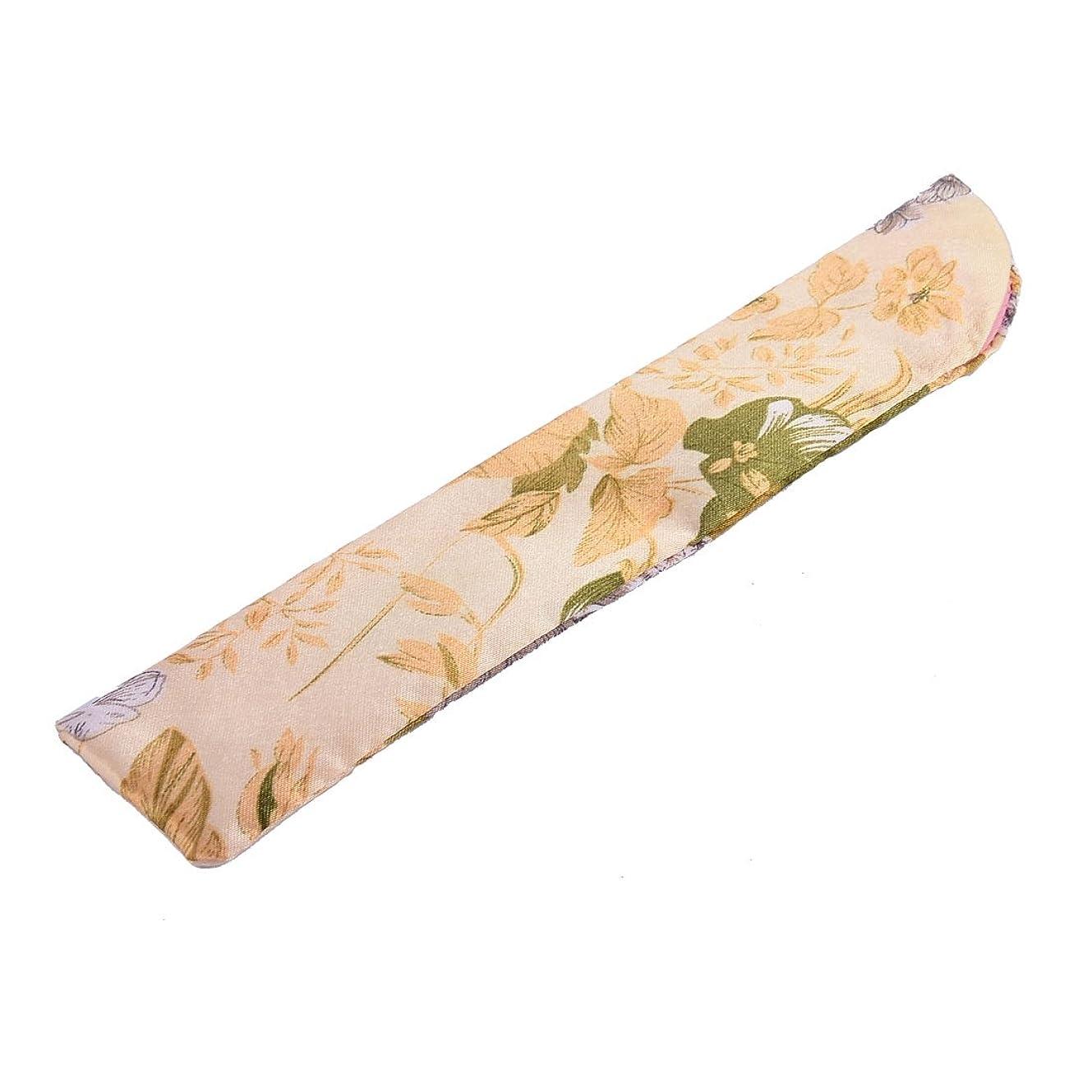 大学アカデミーモディッシュuxcell 扇子ポーチ ファブリック 中国古典的なスタイル 花 のパターン ライトイエロー