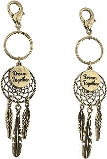 GoldTone Boho Dream Together Dream Catcher Keychain Set 2PC