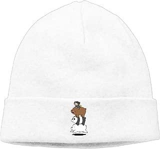 We Bare Bears Beanie Hats for Men Women Black