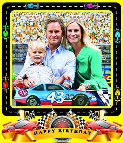 aahs!! Engraving Race Car Themed Birthday Party Photo Frame Prop, 35 X 30 inches