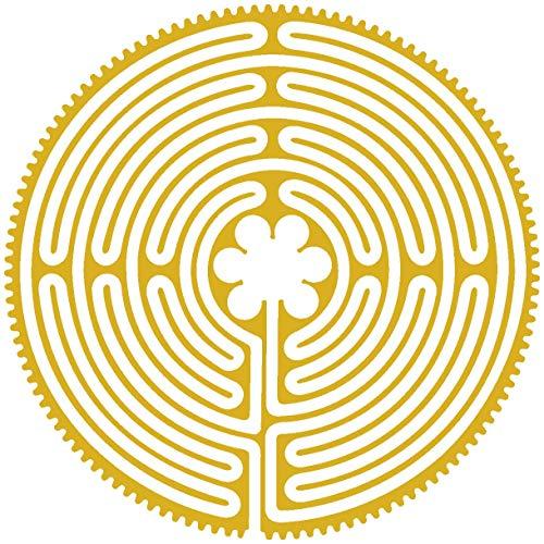 Samunshi® Wandtattoo Labyrinth von Chartres in 8 Größen und 25 Farben (30x30cm goldmetalleffekt)
