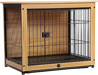 Dog Cage الحيوانات الأليفة قفص نهاية الجدول خشبية كلب قفص داخلي الكلب السياج المنزلية الكلب السرير القط الأرنب قفص Puppy a...