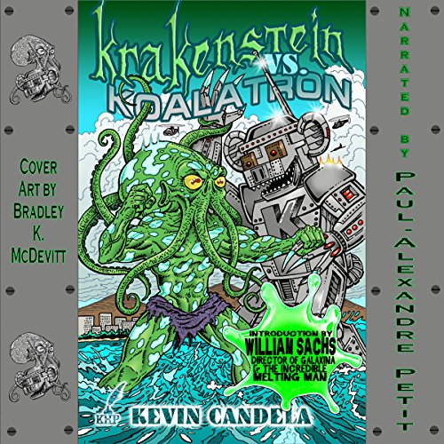 Krakenstein VS. Koalatron audiobook cover art