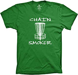 Guerrilla Tees Disc Golf Funny Chain Smoker Shirt Frisbee Summer Tshirts